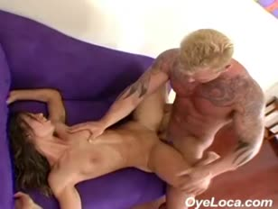Slim latina gets tucked rock hard by a muscular dude