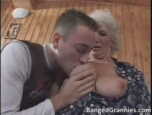 Busty blonde cougar super-bitch blowing humungous yam-sized