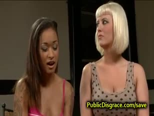 Blonde and dark-hued gang drilled in public