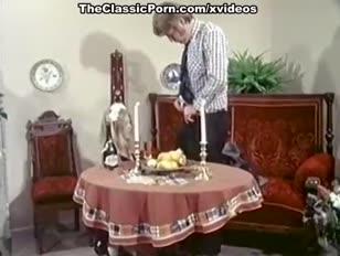 Naughty classic gonzo star in vintage pornography scene